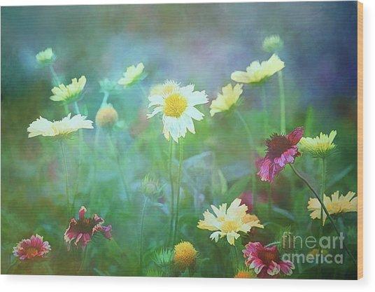 The Joy Of Summer Flowers Wood Print