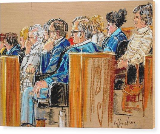 The Jury Wood Print
