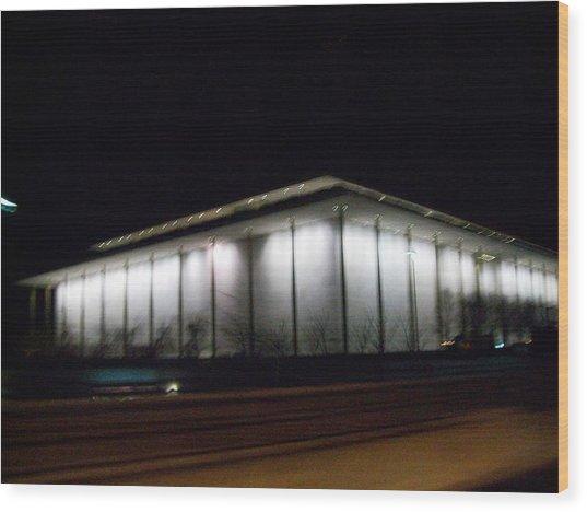 The Kennedy Center Wood Print by Fareeha Khawaja