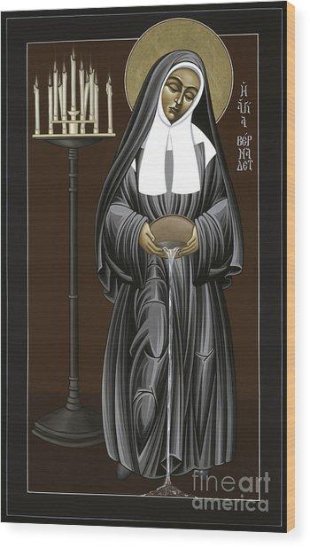 The Kenosis Of St Bernadette Of Lourdes 063 Wood Print