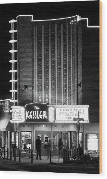 The Kessler V2 091516 Bw Wood Print