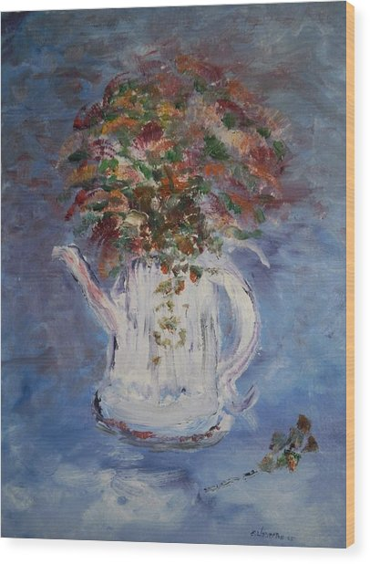 The Kettle Vase Wood Print by Edward Wolverton
