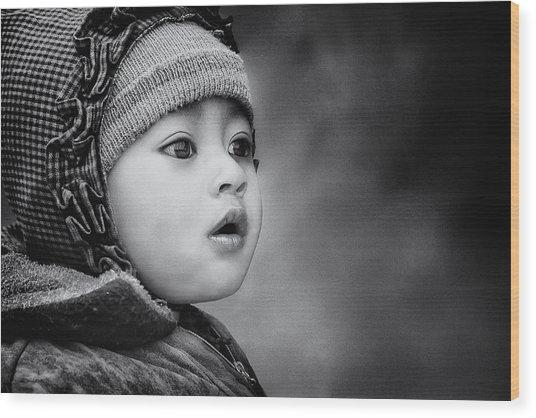 The Kid From Sarangkot Wood Print
