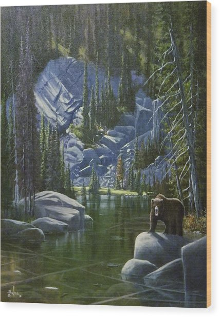 The King Of Cook's Lake Wood Print