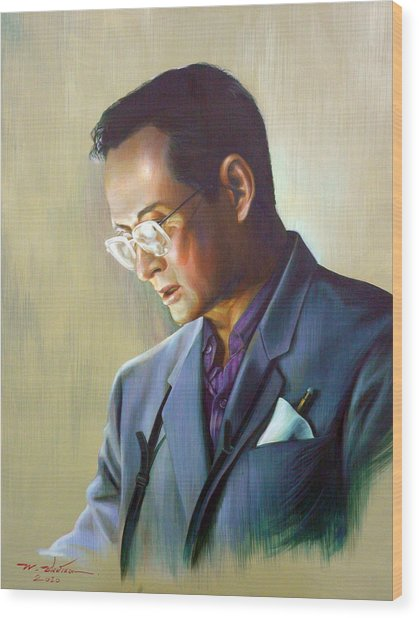 The King Of Thailand Wood Print