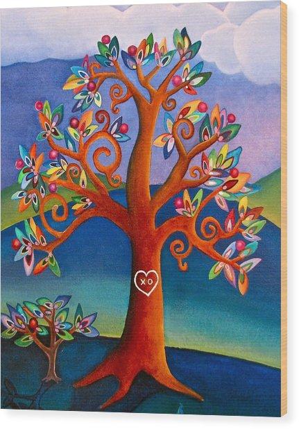 The Kissing Tree Wood Print