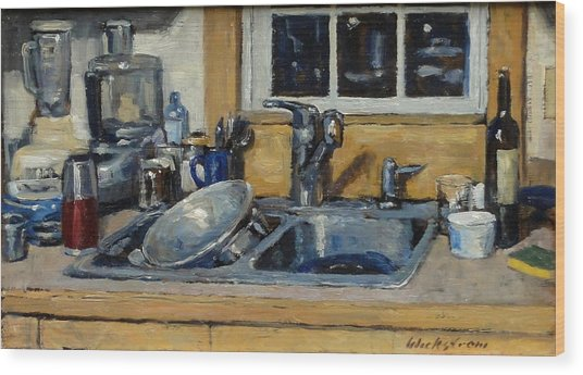 The Kitchen Sink Wood Print