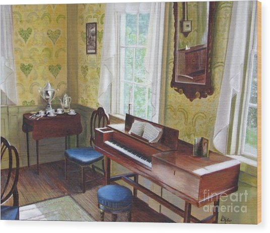 The Ladies Parlor Wood Print by Donald Hofer