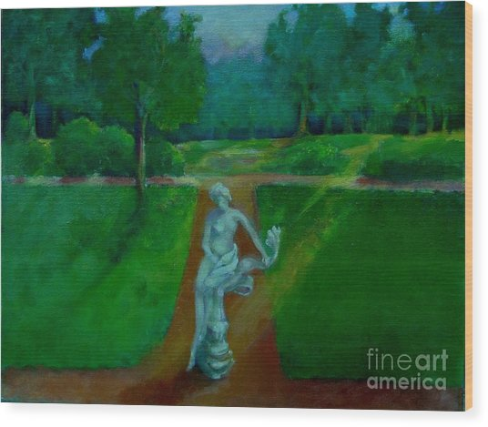 The Lady In The Park     Copyrighted Wood Print by Kathleen Hoekstra