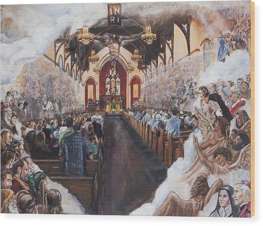 The Lamb's Supper Wood Print