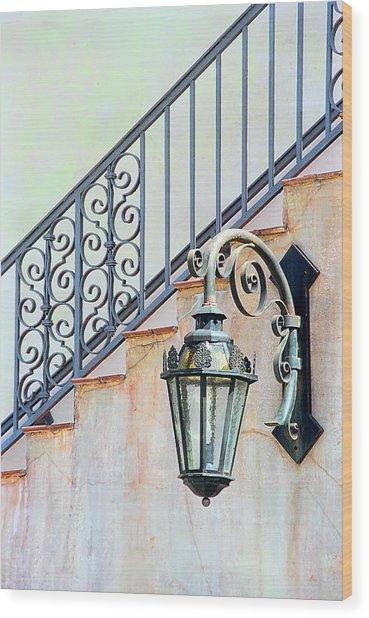 The Lamp Wood Print by Pat Carosone