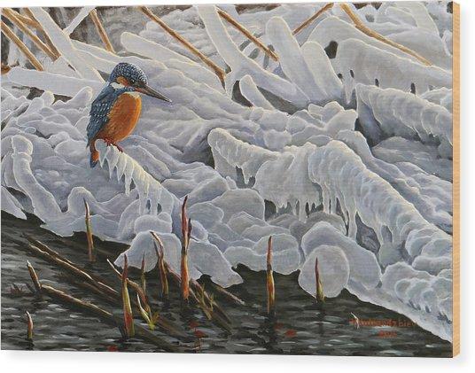 The Last Burst Of Winter Wood Print