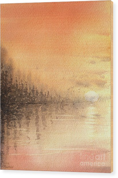 The Last Of Autumn Wood Print