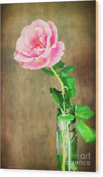The Last One Rose Wood Print by Roberta Byram