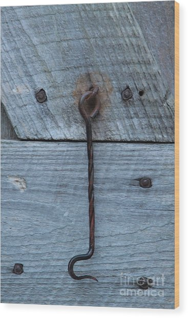 The Latch Wood Print by Robert Pearson