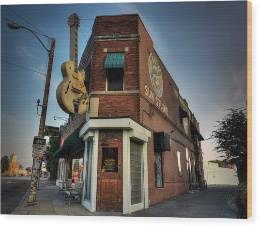 Wood Print featuring the photograph The Legendary Sun Studio 002 by Lance Vaughn