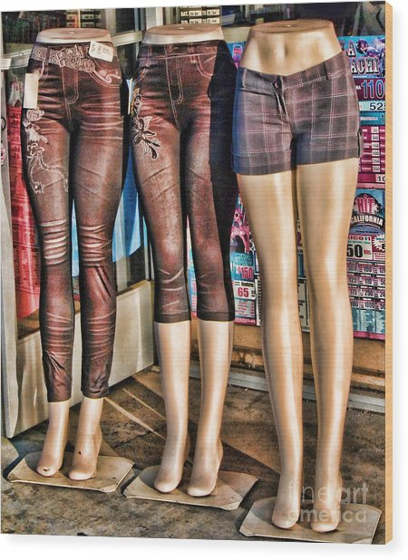 The Legs Have It Wood Print