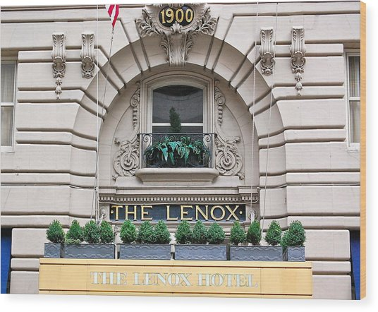 The Lenox Hotel - Boston Ma Wood Print