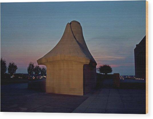 The Liberty Memorial Sphinx Wood Print