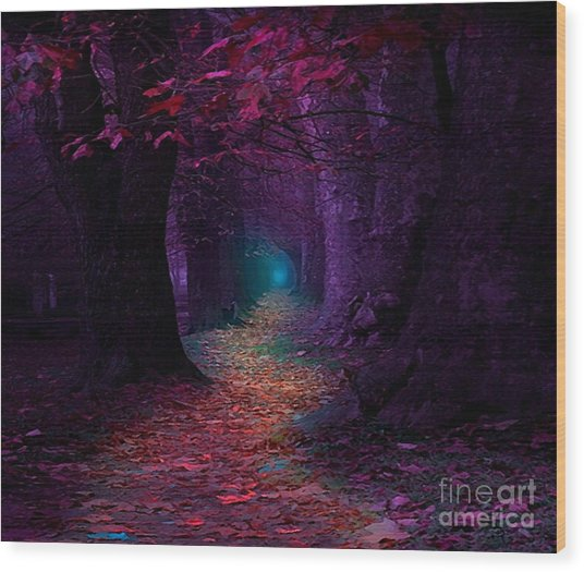 The Light At The End Wood Print