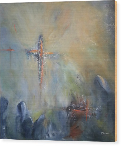 The Light Of Christ Wood Print