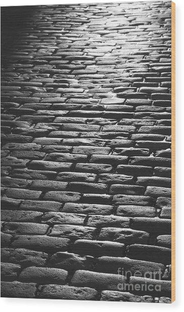 The Light On The Stone Pavement Wood Print by Hideaki Sakurai