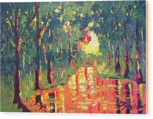 The Light Wood Print by Paul Sandilands