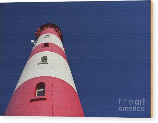 The Lighthouse Amrum Wood Print
