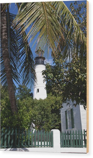 The Lighthouse In Key West II Wood Print
