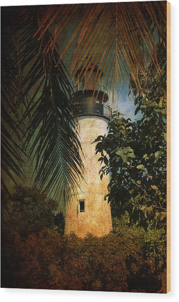 The Lighthouse In Key West Wood Print
