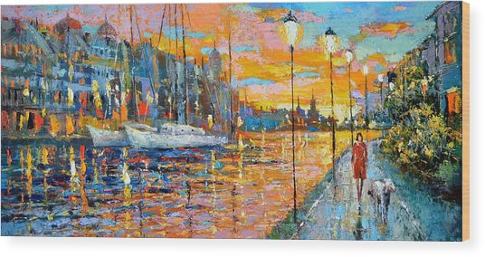 The Lights Of The Stockholm Wood Print