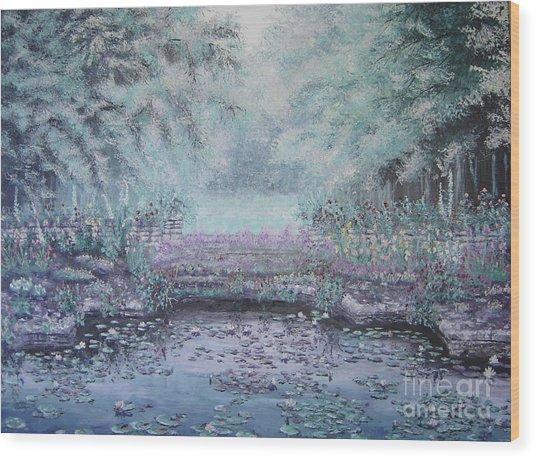 The Lily Pond Wood Print by Cynthia Sorensen