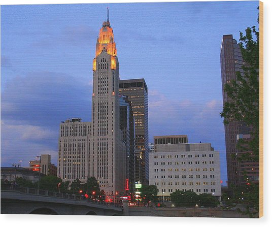The Lincoln Leveque Tower Wood Print