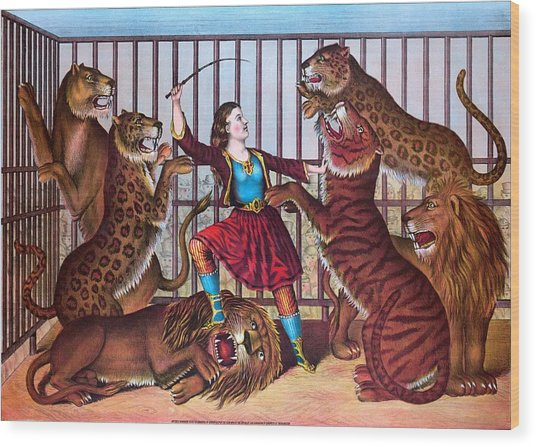 The Lion Queen Print, 1874 Wood Print