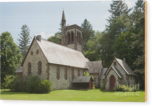 The Little Brown Church In The Vale Wood Print