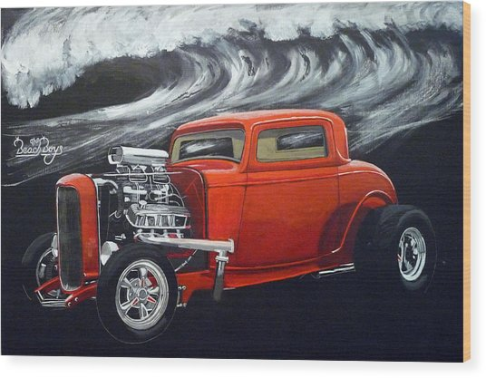 The Little Deuce Coupe Wood Print