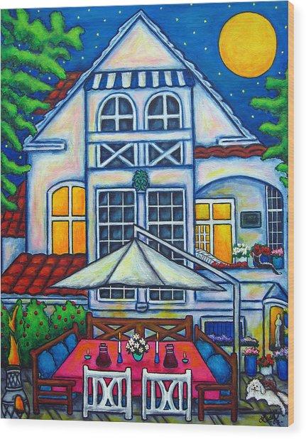 The Little Festive Danish House Wood Print