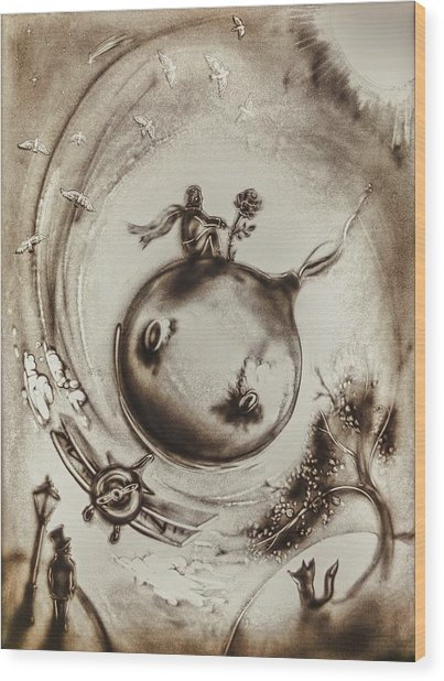 The Little Prince Wood Print