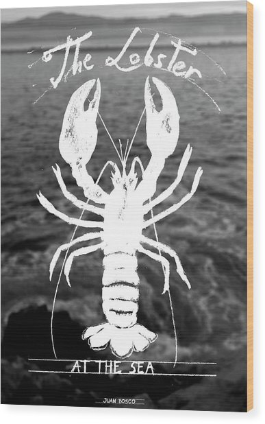 The Lobster Wood Print