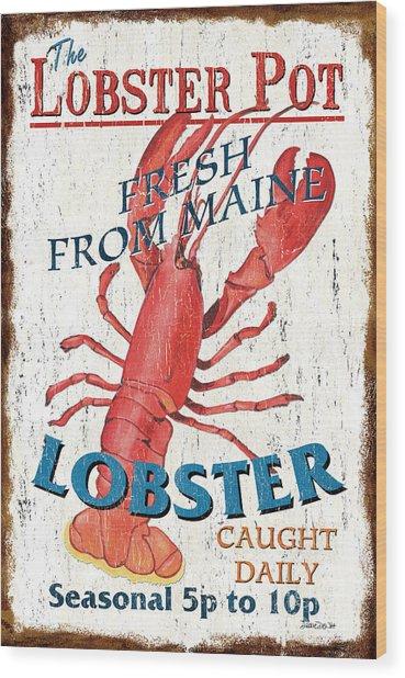 The Lobster Pot Wood Print