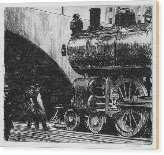 The Locomotive Wood Print