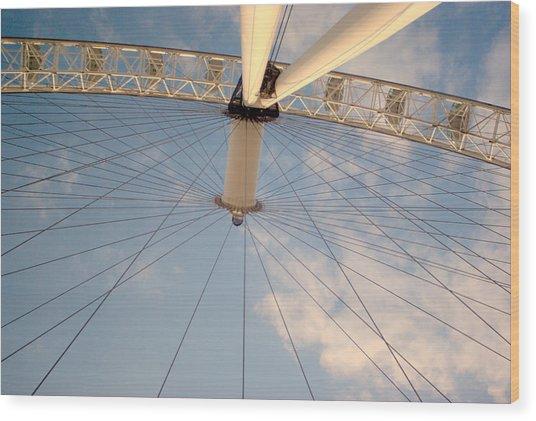 The London Eye Wood Print by Iain MacVinish