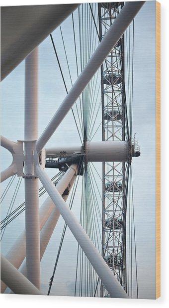The London Eye Wood Print by Martin Howard