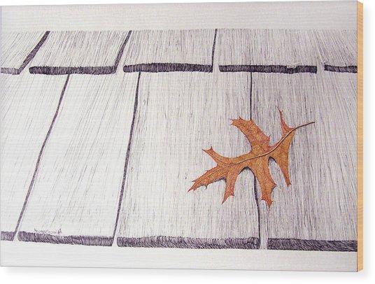 The Loner Wood Print by A  Robert Malcom