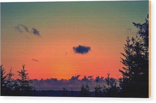 The Loner Cloud Wood Print