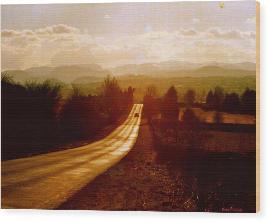 The Long And Lonely Road....... Wood Print