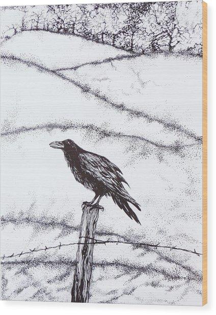 The Long Long Winter Wood Print