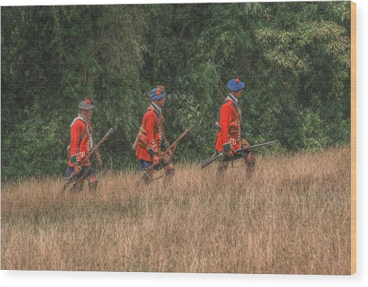 The Long March To Fort Pitt  Wood Print by Randy Steele