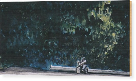 the Long Ride Wood Print by Saundra Lee York