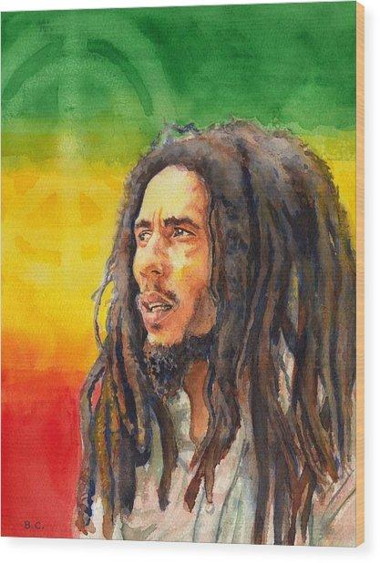 The Lord Of Peace Bob Marley Wood Print